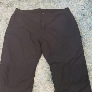 Lands End Black Snow Ski Waterproof Pants xxl 2xl